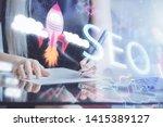 double exposure of woman's... | Shutterstock . vector #1415389127
