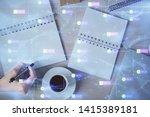 multi exposure of woman's... | Shutterstock . vector #1415389181