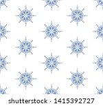 indigo blue and white seamless...   Shutterstock .eps vector #1415392727