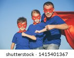 father and children playing... | Shutterstock . vector #1415401367
