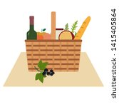 vector illustration with wicker ... | Shutterstock .eps vector #1415405864