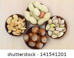 mixed nuts with and without... | Shutterstock . vector #141541201