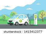 electric car charging its... | Shutterstock . vector #1415412377