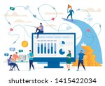 marketing in social network ... | Shutterstock .eps vector #1415422034