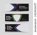 design of horizontal black web... | Shutterstock .eps vector #1415424197