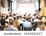 talk in conference hall at...   Shutterstock . vector #1415431217