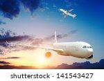 large passenger plane   Shutterstock . vector #141543427