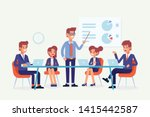 business people meeting... | Shutterstock .eps vector #1415442587