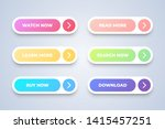 six colorful button on white... | Shutterstock .eps vector #1415457251