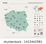 vector map of poland. country... | Shutterstock .eps vector #1415462981