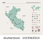 vector map of peru. country map ... | Shutterstock .eps vector #1415463314