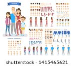 big family character set for... | Shutterstock . vector #1415465621