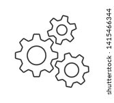 icon of gears. flat style