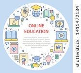 e learning education circle... | Shutterstock .eps vector #1415472134