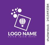 hot air balloon logo concept....