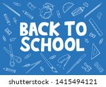 back to school doodle with... | Shutterstock .eps vector #1415494121