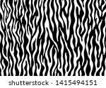 zebra skin pattern design.... | Shutterstock .eps vector #1415494151