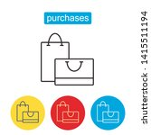 shopping bag outline icon.... | Shutterstock .eps vector #1415511194
