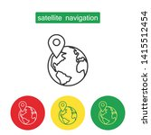 satellite navigation outline... | Shutterstock .eps vector #1415512454