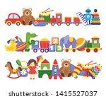 toys pile. groups of children... | Shutterstock . vector #1415527037