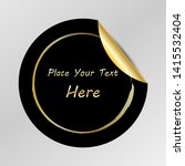 gradient tag  peel off sticker  ... | Shutterstock .eps vector #1415532404