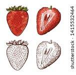 Set Strawberry Drawing....
