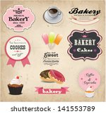 set of retro bakery labels ... | Shutterstock .eps vector #141553789