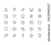 interface line icon sets. ready ...