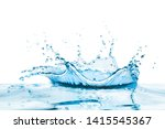 crown shaped water splash with... | Shutterstock . vector #1415545367