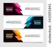 banner design with three color...   Shutterstock .eps vector #1415551841