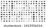 arrows. black vector arrows.... | Shutterstock .eps vector #1415556314