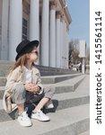 little girl portrait on the... | Shutterstock . vector #1415561114