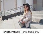 little girl portrait on the... | Shutterstock . vector #1415561147