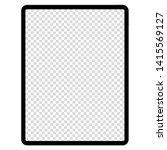 modern digital tablet on white... | Shutterstock .eps vector #1415569127