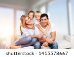 beautiful smiling family... | Shutterstock . vector #1415578667