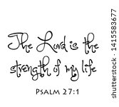 Biblical Phrase From Psalm 27...