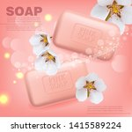 soap vector realistic mock up.... | Shutterstock .eps vector #1415589224