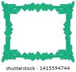 rectangular frame with celtic... | Shutterstock .eps vector #1415594744