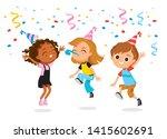 children's party. happy kids...   Shutterstock .eps vector #1415602691
