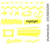hand drawn highlight marker... | Shutterstock .eps vector #1415603204