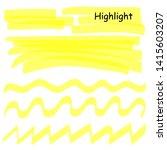 hand drawn highlight marker... | Shutterstock .eps vector #1415603207