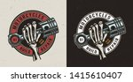 vintage motorcycle maintenance... | Shutterstock .eps vector #1415610407