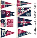 yachting club nautical pennant... | Shutterstock .eps vector #1415610491