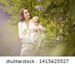 outdoor fashion portrait of...   Shutterstock . vector #1415625527