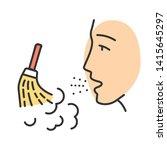 dust allergy color icon....   Shutterstock .eps vector #1415645297