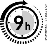 nine hour arrow icon   vector | Shutterstock .eps vector #1415671724