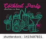 cocktail illustration  ... | Shutterstock .eps vector #1415687831