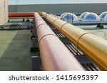 water steel pipe. flange pipe... | Shutterstock . vector #1415695397