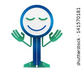 funny human icon with smiling... | Shutterstock . vector #141570181