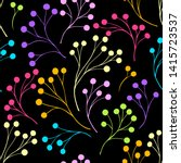 seamless pattern with abstract... | Shutterstock .eps vector #1415723537